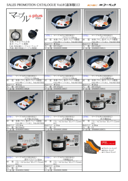 SALES PROMOTION CATALOGUE Vol.8(追加版11)