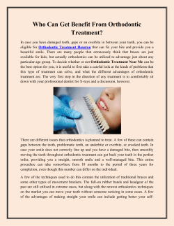 Who Can Get Benefit From Orthodontic Treatment