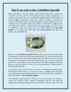 Tips if you want to buy Colombian emeralds