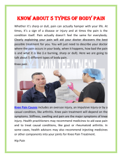 Know about 5 types of body pain