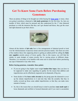 Get To Know Some Facts Before Purchasing Gemstones