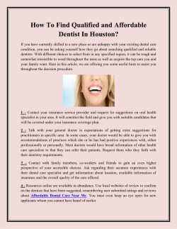 How To Find Qualified and Affordable Dentist In Houston