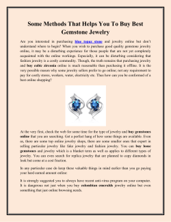 Some Methods That Helps You To Buy Best Gemstone Jewelry