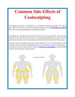 Common Side Effects of Coolsculpting