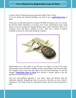 Get a Hassle-Free Registration Loan In Mesa