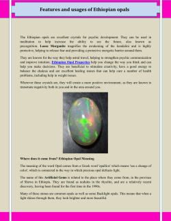 Features and usages of Ethiopian opals