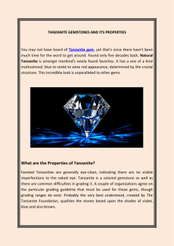 Tanzanite Gemstones And Its Properties